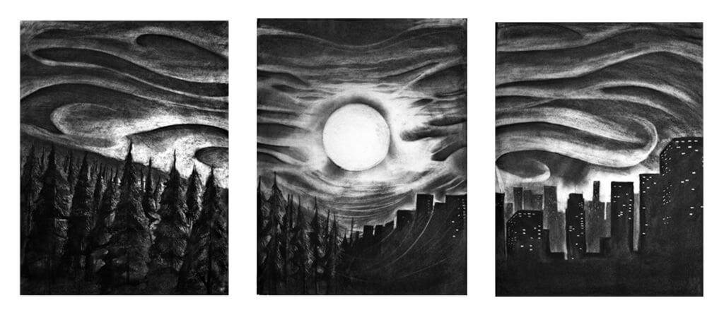 Sunset Tryptic