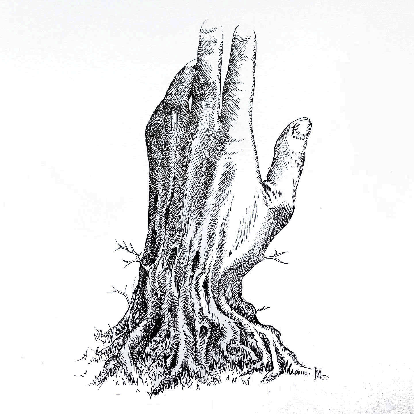 Hand with Roots by Zach Johnson